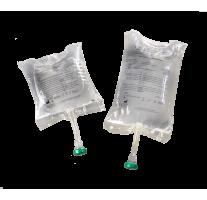 Saline solution pouches