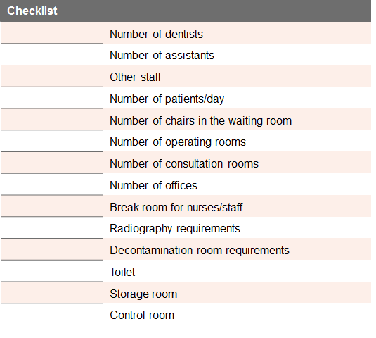 Amenagement checklist EN